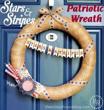 stars stripes patriotic wreath