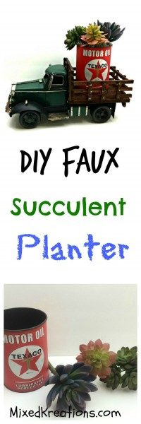 Diy faux succulent planter