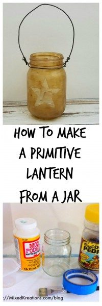diy primitive lantern