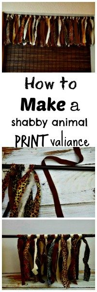 diy shabby animal print valiance