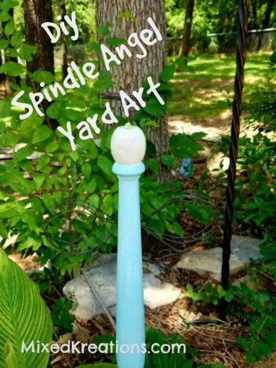 Diy Spindle Angel Yard Art