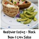 black bean and corn pita