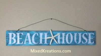 Weathered Beach House Sign
