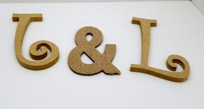 How To Make Faux Galvanized Metal Letters