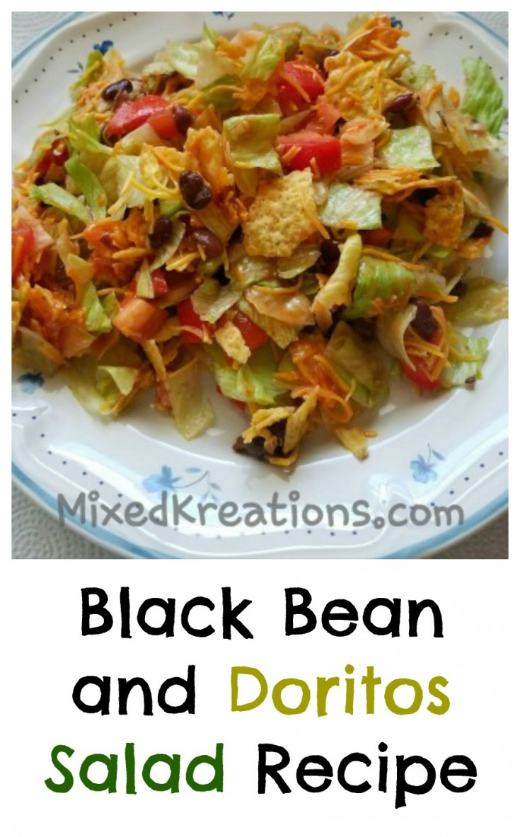 Black Bean and Doritos Salad Recipe, Easy summer salad recipe MixedKreations.com