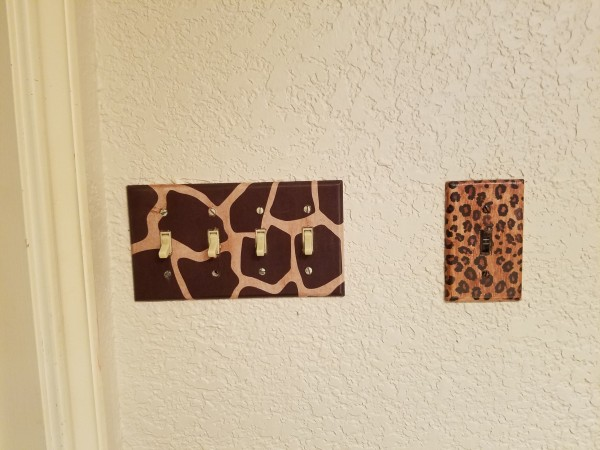 how to make Animal print switch plate covers