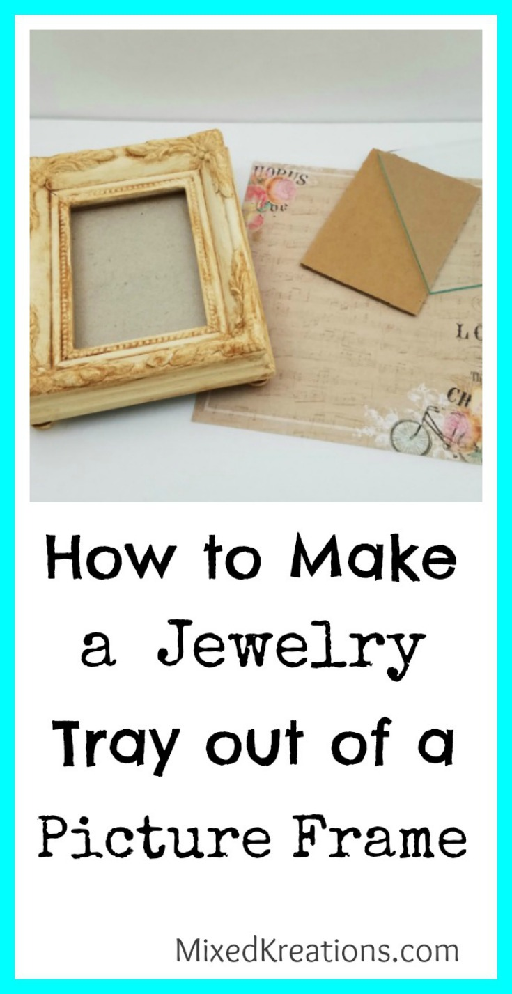 diy jewelry tray from small frame