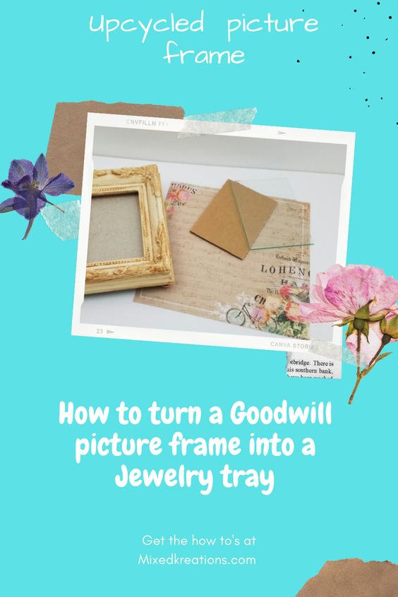 diy jewelry tray out of a frame