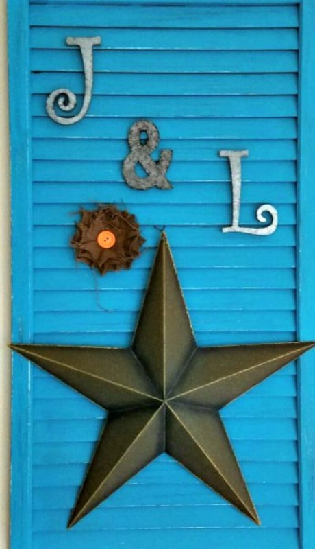 diy repurposed louvered door - you and me forever wall art