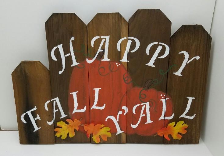 diy fall crafts, Happy Fall Y'all Cedar Pickets