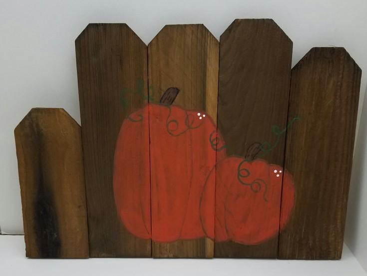 Happy Fall Y'all Cedar Pickets sign