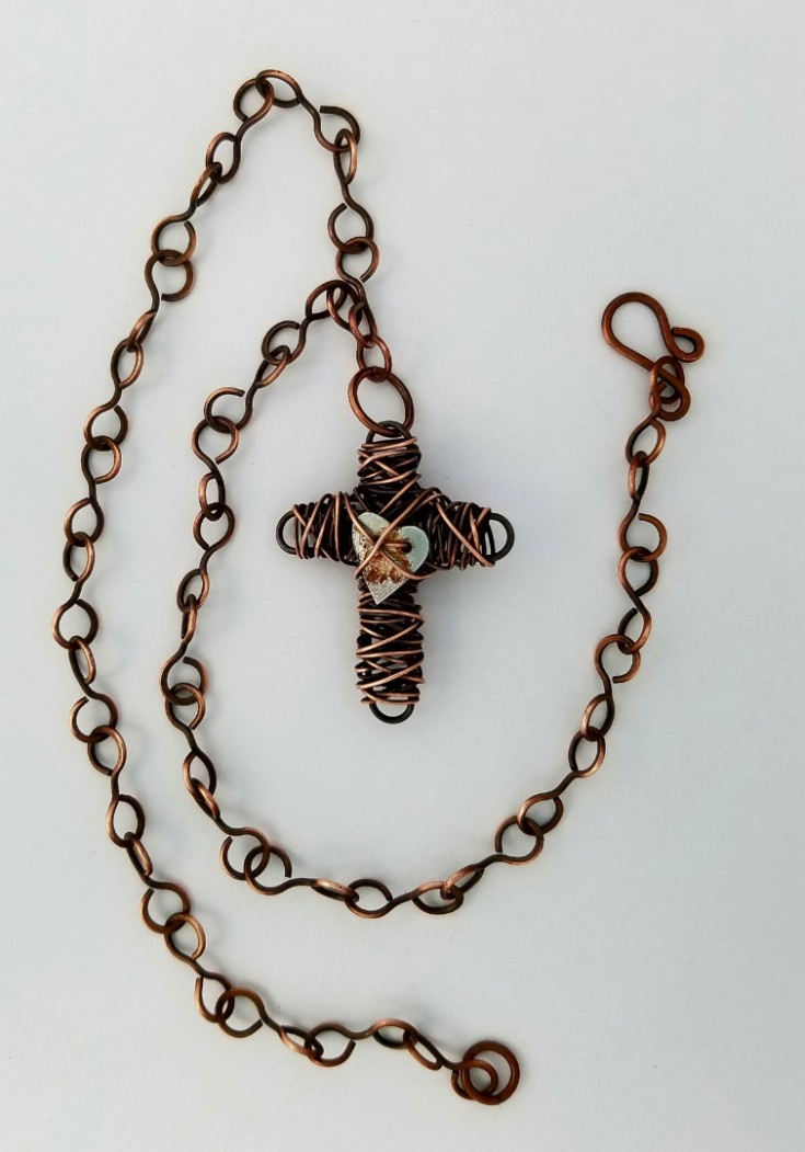 11 Weeks Til Christmas Gift List- copper wire cross