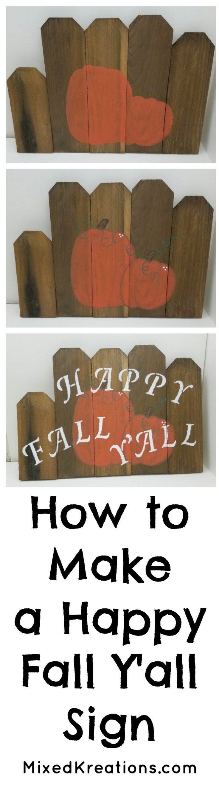 how to make a easy happy fall yall sign from scrap wood pickets