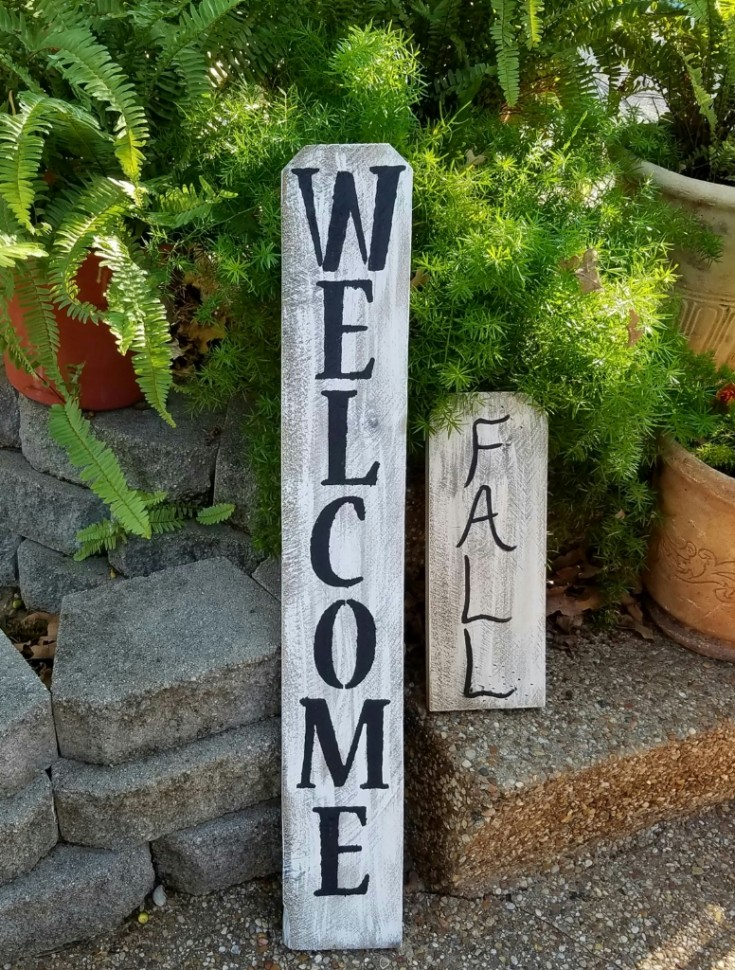 Handmade Wooden Fall Signs