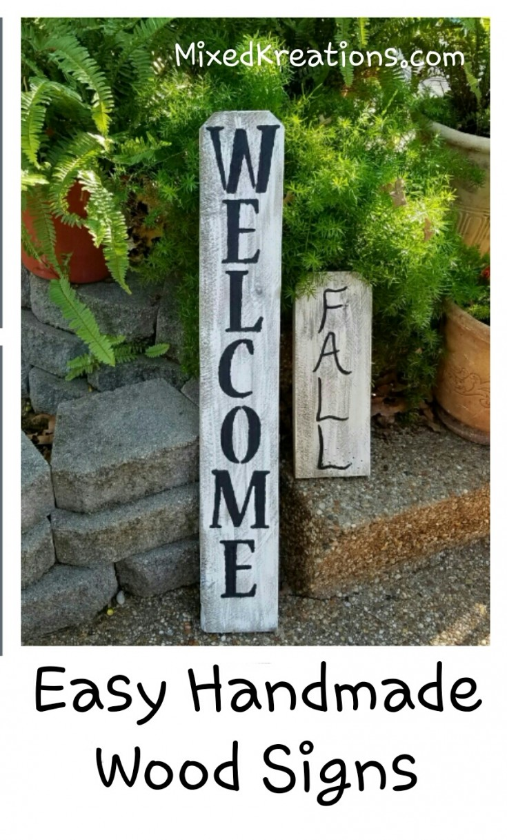 Easy Handmade Wooden Fall Signs
