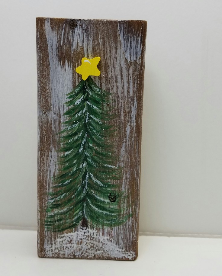 Hand painted Christmas Tree