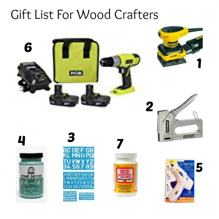 Gift list for wood crafters