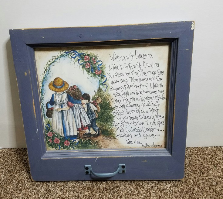thrift store finds - frame