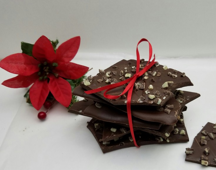 Chocolate Mint Almond Bark