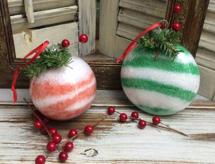 christmas bath salt ornaments
