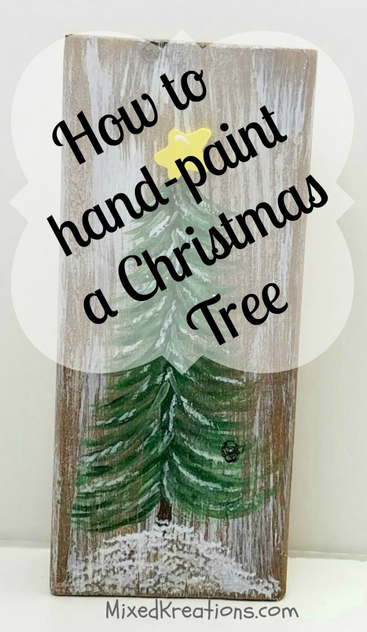 how to hand paint a Christmas tree