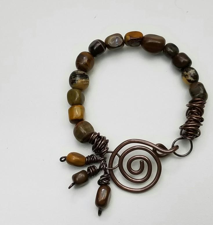 1 Weeks Til Christmas Gift List - copper and zebra jade bracelet