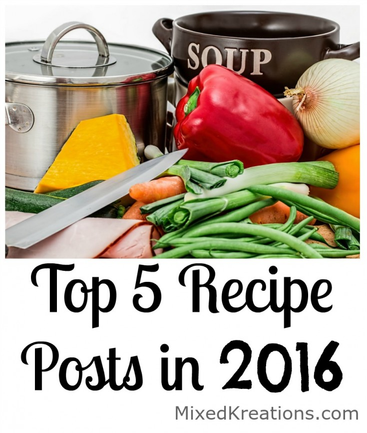 top 5 recipe posts in 2016