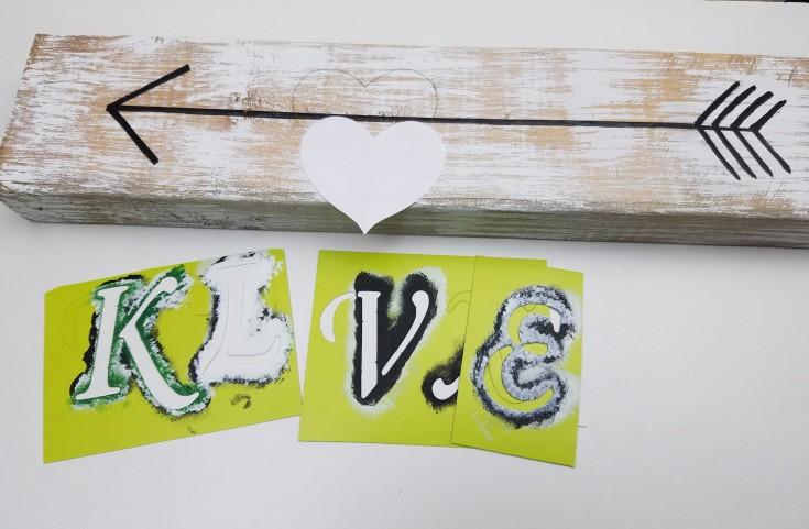 easy diy arrow love block