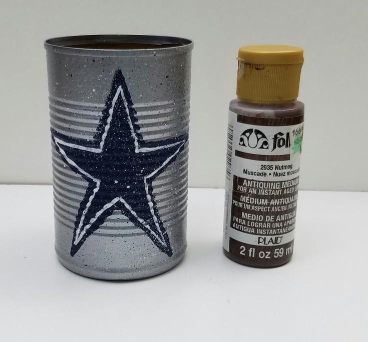 Diy  Dallas cowboys tin can pencil holder 5