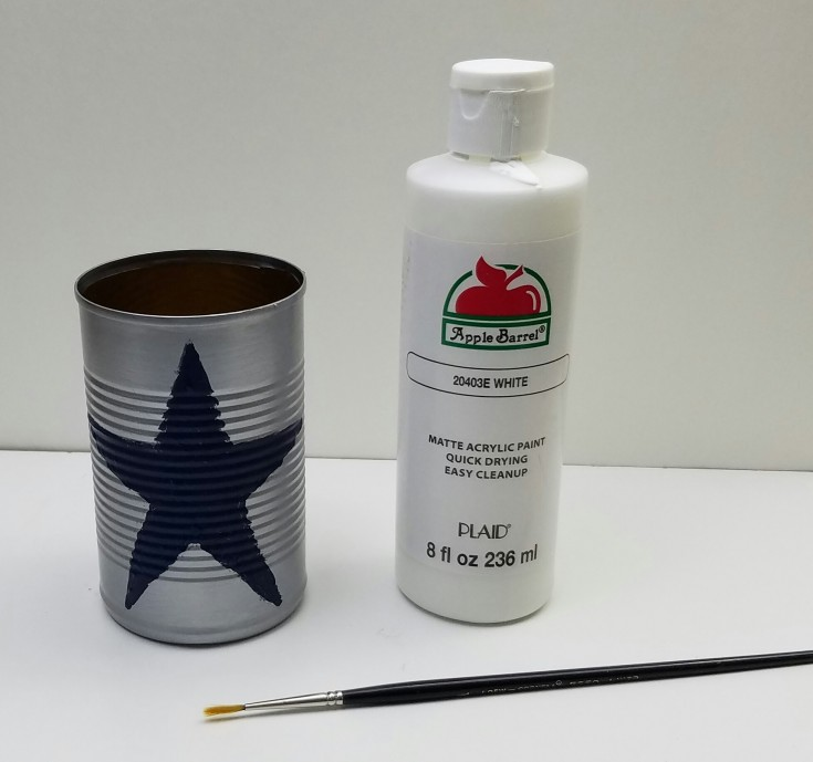 Diy  Dallas cowboy tin can pencil holder 5