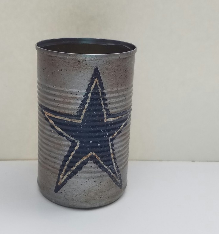 Diy  Dallas cowboys tin can pencil holder 5