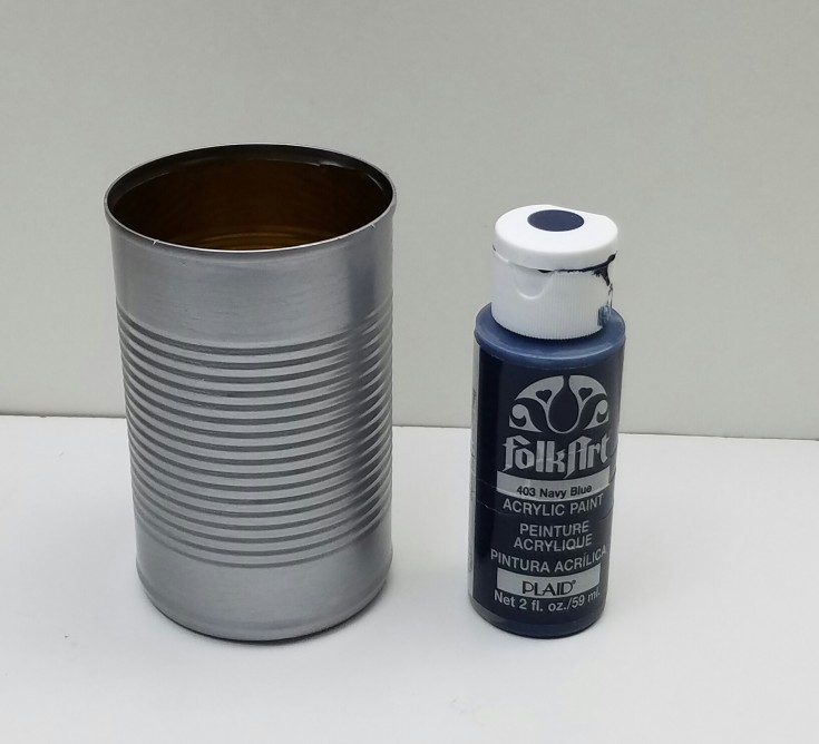 Diy  Dallas cowboys tin can pencil holder