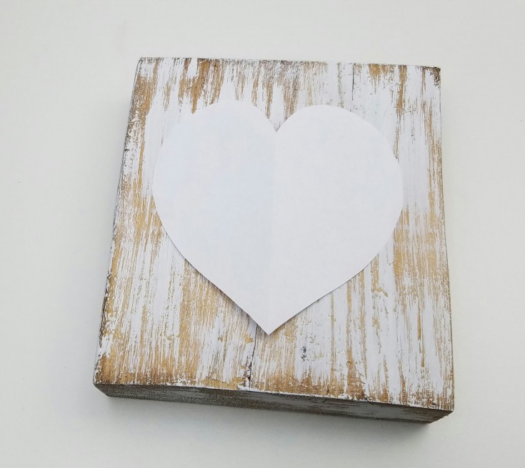 How to make a key to my heart Valentine block
