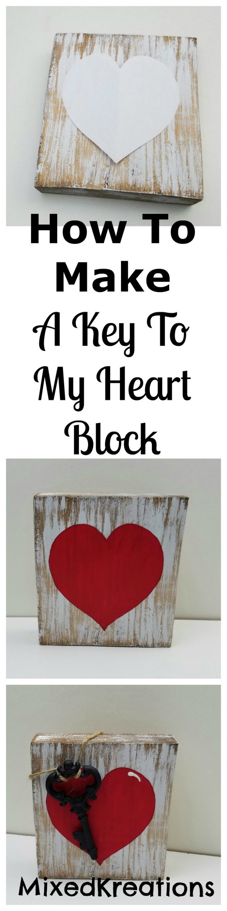 how to make a key to my heart block pinterest