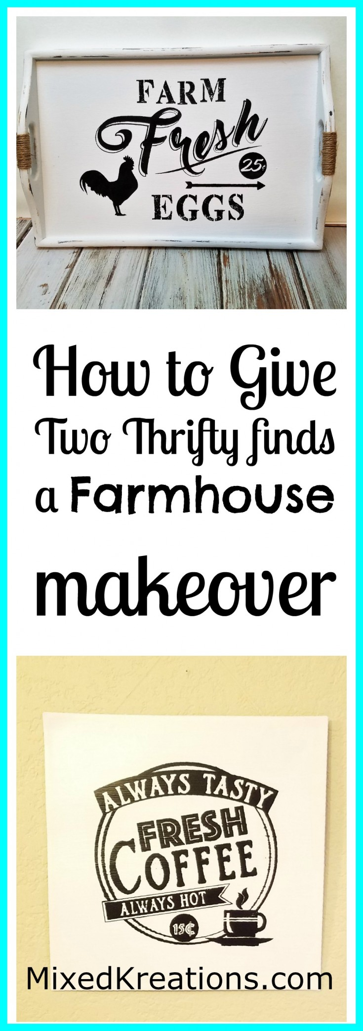 How to give two Thrifty finds a farmhouse style makeover