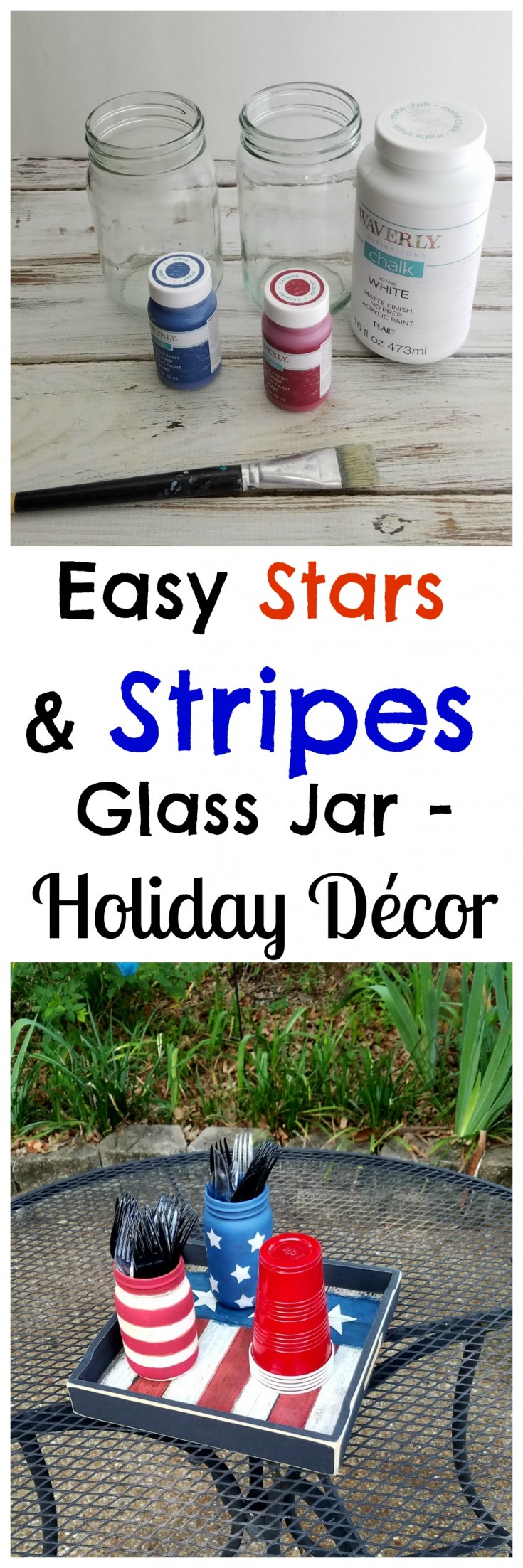 Easy Stars and Stripes Glass Jar – Holiday Décor