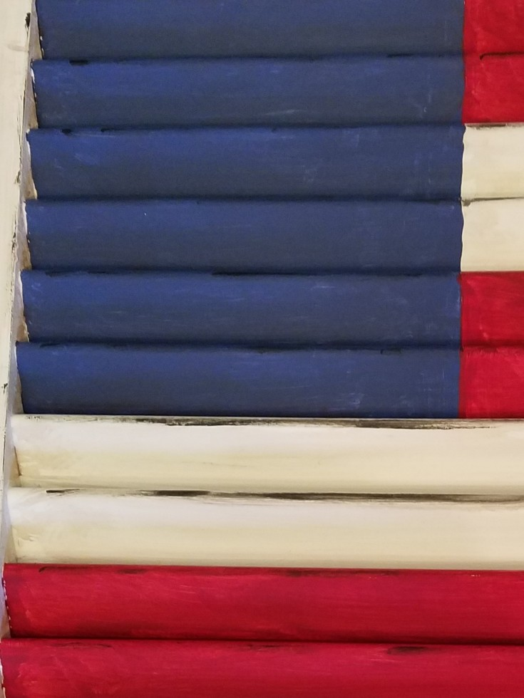 how to make a 2 sided american flag