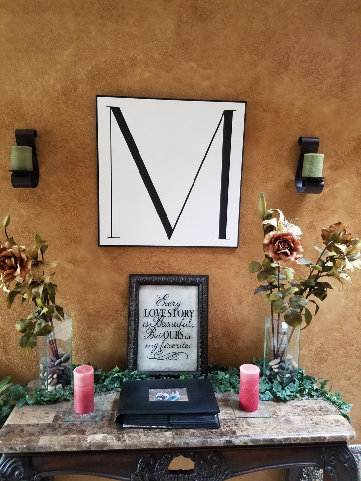 how to make a large monogram letter sign