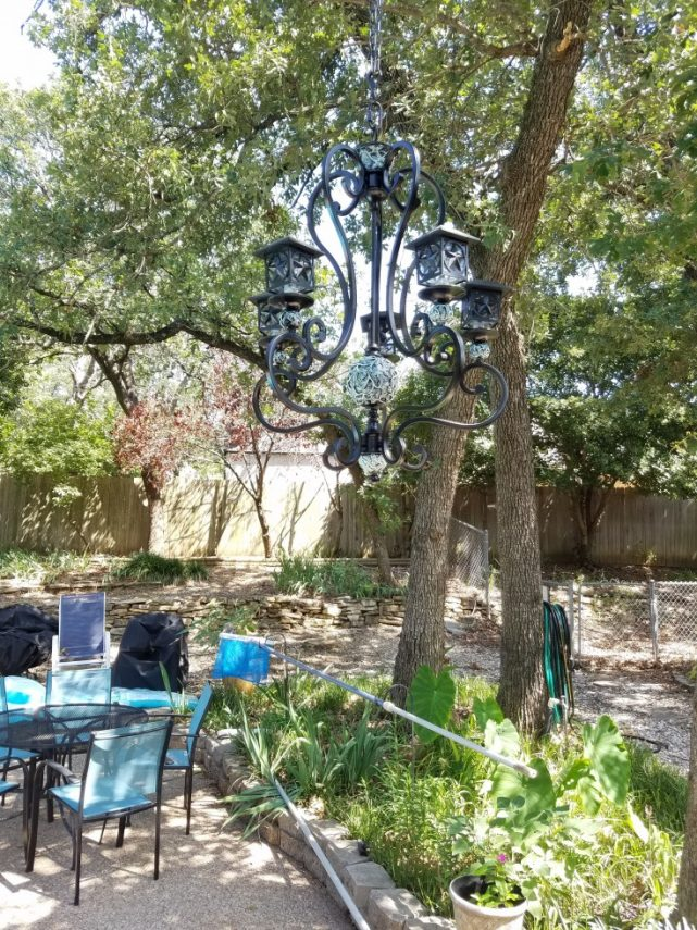 How To Make A Diy Solar Light Chandelier Mixed Kreations