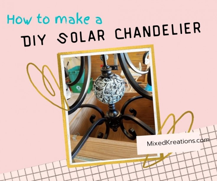 How to make a diy solar chandelier