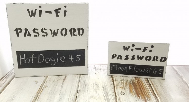 how to make a wifi password block
