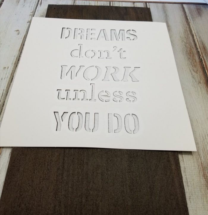 diy dreams don't work unless you do sign