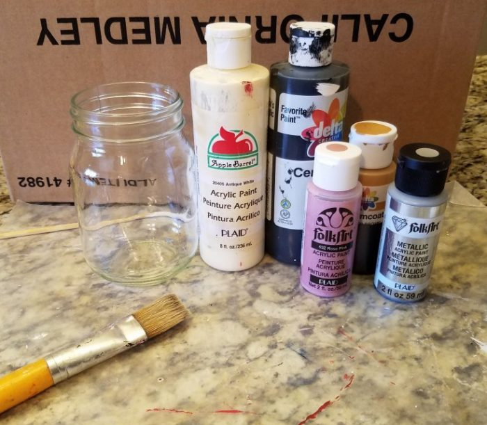 how to paint a glass jar that looks like a pencil mixed kreations