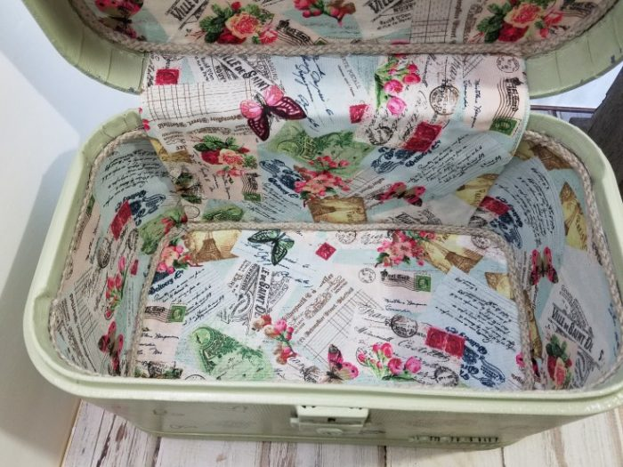 Vintage Train Case Makeover