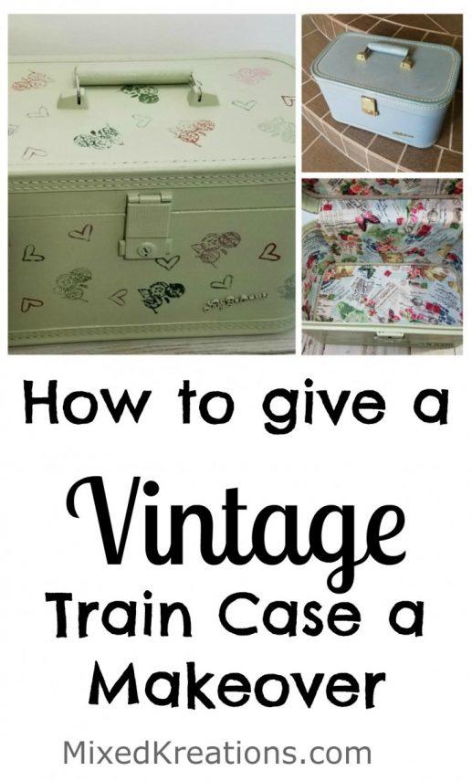 Vintage Train Case Makeover
