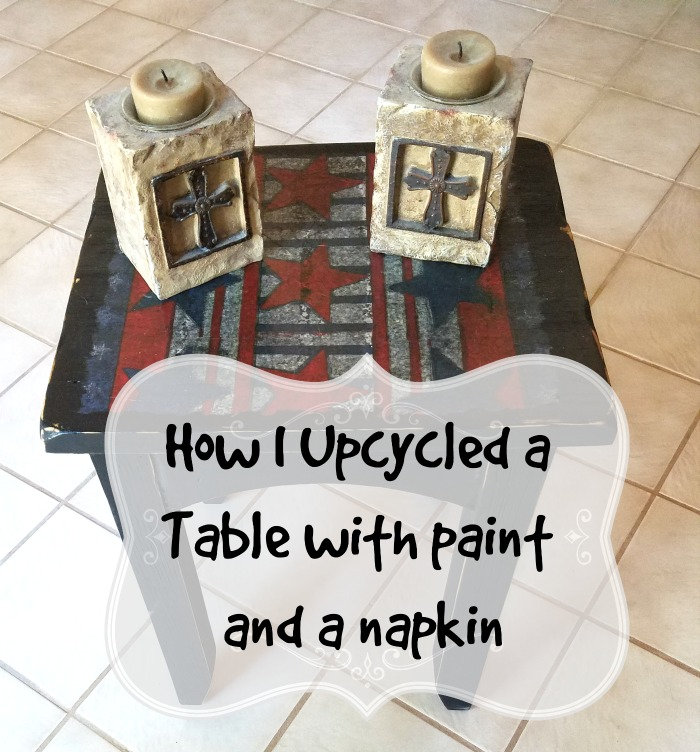 Upcycle a Table with paint and a napkin