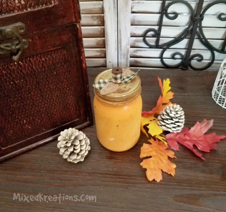 How to Make Fall Pickle Jar Pumpkin Crafts