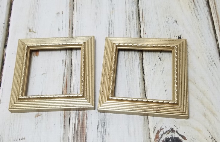 Repurposed Halloween Decor - mini ghost and pumpkin frames