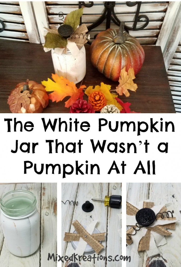 The White Pumpkin Jar That Wasn't a Pumpkin At All