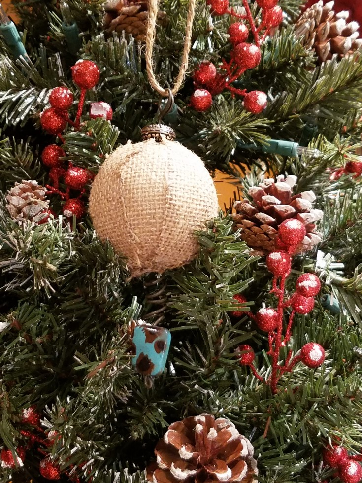 Two diy rustic christmas tree ornaments mixed kreations